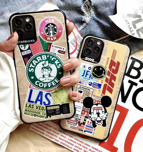 Starbucks Coffee DHL Supreme Mickey Case For Apple Iphone 11 Pro Max SE X Xr Xs 7 8
