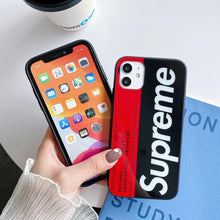 Load image into Gallery viewer, Japan Supreme Metro Card Cover Case For Apple Iphone 11 Pro Max X Xr Xs 6 7 8