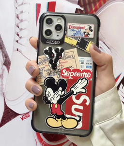 Supreme Mickey Disney Case For Apple Iphone 11 Pro Max SE X Xr Xs 7 8