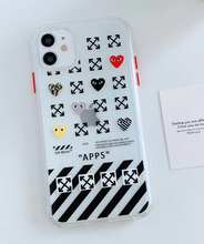 Load image into Gallery viewer, Supreme Off White Comme Des Garcons Case For Apple Iphone 11 Pro Max SE Xr Xs X 7 8