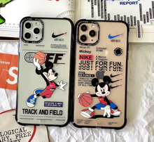 Load image into Gallery viewer, Off White Mickey Nike Air Case For Apple Iphone 11 Pro Max SE X Xr Xs 7 8