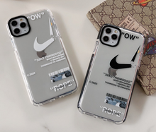 Load image into Gallery viewer, Luxury Nike Air Off white Case For Apple Iphone 11 Pro Max SE X Xr Xs 7 8