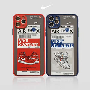 Nike Air Jordan Off White Supreme Case For Apple Iphone 11 Pro Max SE 7 8 X Xr Xs
