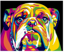 Load image into Gallery viewer, DIY Canvas Dog Painting Home Decoration Pop Art Paint Style Frameless Colorful
