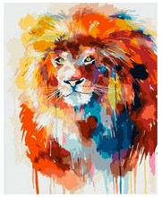Load image into Gallery viewer, DIY Canvas Lion Painting Home Decoration Pop Art Paint Style Frameless Colorful