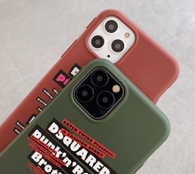 Load image into Gallery viewer, Luxury DSQ Dsquared2 Icon Italy Case Apple Iphone 11 Pro Max SE 7 8 X Xr Xs