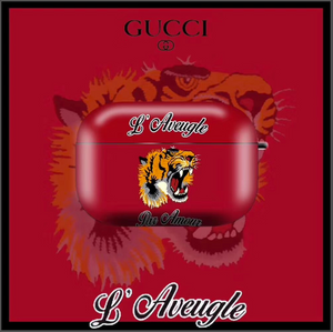 Italy Gucci GG L'Aveugle Protective Cover Case For Apple Airpods Pro Airpods 1 2