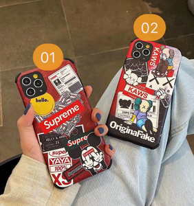 Supreme Off White Kaws Pop Art Case For Apple Iphone 11 Pro Max 7 8 X Xr Xs