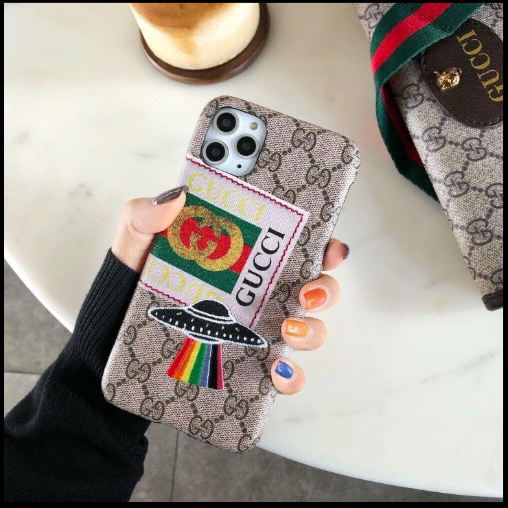 Luxury Italy Gucci GC GG Space Ship Cover Case For Apple Iphone 11 Pro Max X Xr Xs 6 7 8