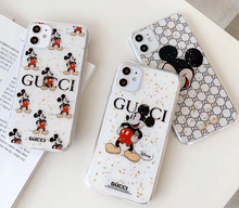 Load image into Gallery viewer, Luxury Italy Gucci GG GC Mickey Cover Case For Apple Iphone 11 Pro Max 7 8