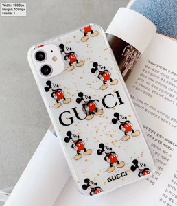 Luxury Italy Gucci GG GC Mickey Cover Case For Apple Iphone 11 Pro Max 7 8