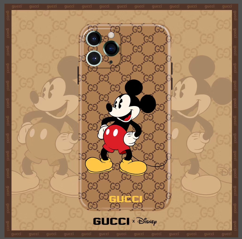 Luxury Italy Gucci GG GC Mickey Disney Cover Case For Apple Iphone 11 Pro Max 7 8