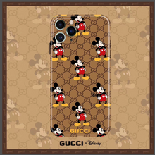 Load image into Gallery viewer, Luxury Italy Gucci GG GC Mickey Disney Cover Case For Apple Iphone 11 Pro Max 7 8