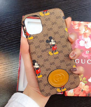 Load image into Gallery viewer, Luxury Italy Gucci Mickey GG GC Cover Case For Apple Iphone 11 Pro Max X Xr Xs 7 8