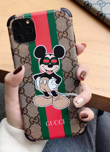 Luxury Italy Gucci Mickey Minnie GC GG Disney Case For Apple Iphone 11 Pro Max 6 7 8 X Xr Xs