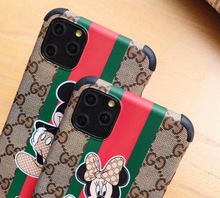 Load image into Gallery viewer, Luxury Italy Gucci Mickey Minnie GC GG Disney Case For Apple Iphone 11 Pro Max 6 7 8 X Xr Xs