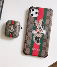 Load image into Gallery viewer, Luxury Italy Gucci Mickey Minnie Mouse Protective Cover Case For Apple Airpods 1 2