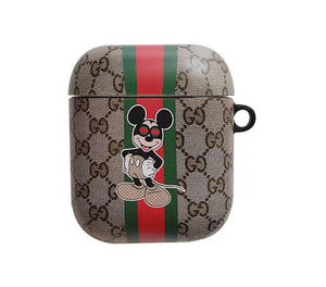 Luxury Italy Gucci Mickey Minnie Mouse Protective Cover Case For Apple Airpods 1 2