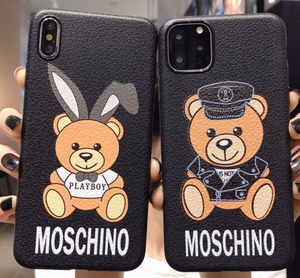 Luxury Italy Milan Moschino Cover Case For Apple Iphone 11 Pro Max Xr Xs X 6 7 8