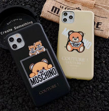Load image into Gallery viewer, Luxury Italy Milan Moschino Bear Cover Case For Apple Iphone 11 Pro Max Xr Xs X 6 7 8
