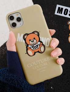 Luxury Italy Milan Moschino Bear Cover Case For Apple Iphone 11 Pro Max Xr Xs X 6 7 8