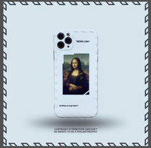 Load image into Gallery viewer, Luxury Italy Milan Off White Mona Lisa Case For Apple Iphone 11 Pro Max SE X Xr Xs 7 8