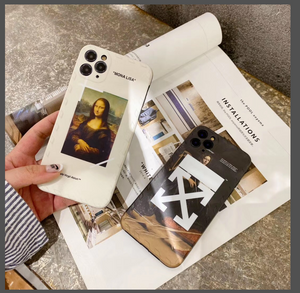 Luxury Italy Milan Off White Mona Lisa Case For Apple Iphone 11 Pro Max SE X Xr Xs 7 8