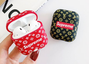 Luxury Japan Supreme Louis Vuitton Protective Cover Case For Apple Airpods 1 2 Airpods Pro 3