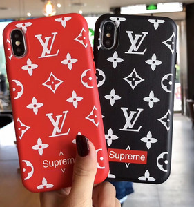 Luxury Paris France Louis Vuitton Supreme Cover Case For Apple Iphone 11 Pro Max 6 7 8 X Xr Xs