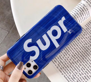 Luxury Paris France Louis Vuitton Supreme SUP Case For Apple Iphone 11 Pro Max Xr Xs X 6 7 8