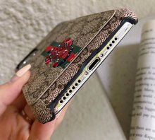 Load image into Gallery viewer, Luxury Italy Gucci GG GC Bee Tiger Snake Cover Case For Apple Iphone 11 Pro Max 6 7 8