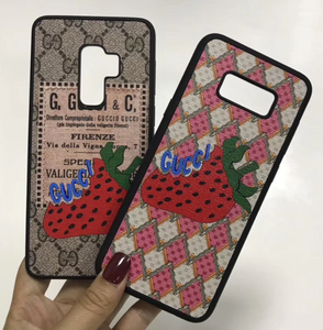 Luxury Italy Gucci GG GC Strawberry Cover Case For Samsung Galaxy S8 S9 S10