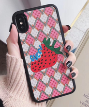 Load image into Gallery viewer, Luxury Italy Gucci Strawberry GC GG Shell Hülle funda custodia Cover Case For Apple Iphone 6 7 8 X XR XS Max 11 Pro