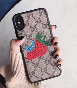 Luxury Italy Gucci Strawberry GC GG Shell Hülle funda custodia Cover Case For Apple Iphone 6 7 8 X XR XS Max 11 Pro