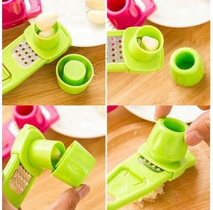 Multi Functional Ginger Garlic Grinding Cutter Peeler Corer Slicer Accessories Kitchen Tools Stainless