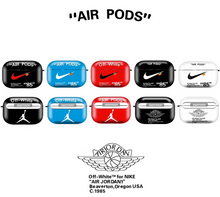 Load image into Gallery viewer, Nike Air Jordan Off White Protective Cover Case For Apple Airpods Pro Airpods 1 2