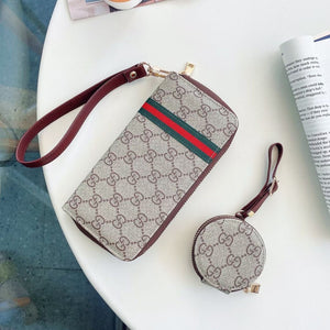 Louis Vuitton Gucci Burberry Wallet Bag Case For Iphone 12 Pro Max Mini & AirPods Pro