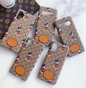 Luxury Italy Gucci GG GC Mickey Case For Samsung Galaxy S20 S20 Ultra S10 Note 10