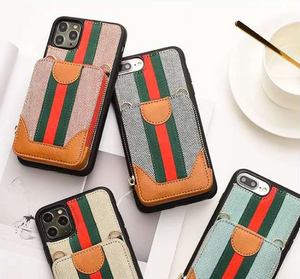 Luxury Italy Gucci Wallet Hand Bag Cover Case For Apple Iphone 11 Pro Max SE Xr Xs X 6 7 8
