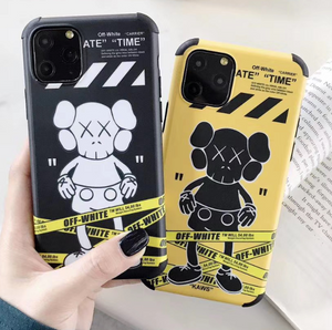Luxury Italy Milan Off White Kaws Case For Apple Iphone 11 Pro Max SE X Xr Xs 7 8