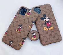 Load image into Gallery viewer, Luxury Italy Gucci GG GC Mickey Cover Case For Apple Iphone 11 Pro Max SE 7 8