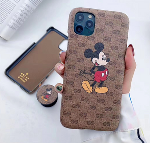Luxury Italy Gucci GG GC Mickey Cover Case For Apple Iphone 11 Pro Max SE 7 8