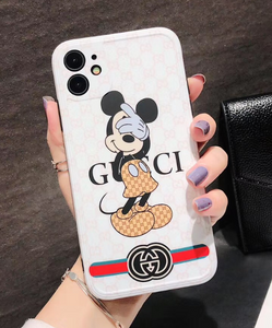 Luxury Italy Gucci Mickey GG GC Case For Apple Iphone 11 Pro Max SE X Xr Xs 7 8