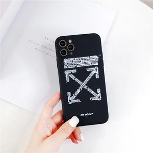 Luxury Italy Milan Off White Case For Apple Iphone 12 Pro Max 11 SE X Xr Xs 7 8