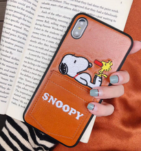 Load image into Gallery viewer, Luxury Snoopy Peanuts Card Slot Case For Apple Iphone 11 Pro Max SE Xr Xs 6 7 8