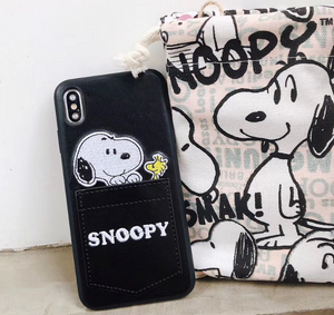 Luxury Snoopy Peanuts Card Slot Case For Apple Iphone 11 Pro Max SE Xr Xs 6 7 8