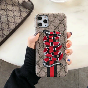 Luxury Italy Gucci GG GC Bee Snake Cover Case For Apple Iphone 11 Pro max X Xr Xs 6 7 8