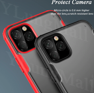Shockproof Bumper Armor Clear Back Shell Hülle funda custodia Bumper Coque Cover Case For Apple Iphone 6 7 8 X XR XS Max 11 Pro