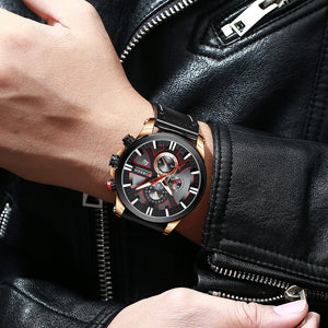 CURREN-Leather Wristwatch