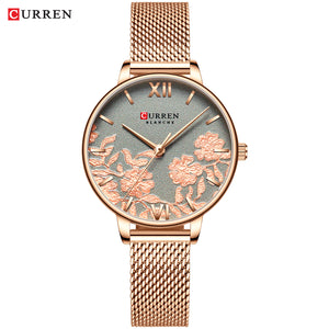 CURREN Luxury Stainless Steel Rose